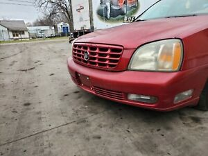 1999 2000 2001 2002 2003 2004 2005 CADILLAC DEVILLE FRONT BUMPER RED / MAROON
