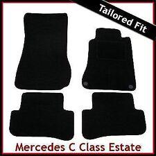 Tailored Carpet Floor Mats for MERCEDES C-Class S203 Estate 2000-2007 BLACK