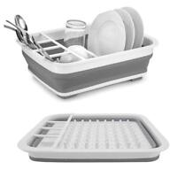 Kitchen Collapsible Over-The-Sink Dish Drainer Large Washing Basin Dish Tub Dish