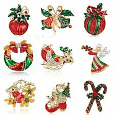 Fashion Women Crystal Christmas Angel Sell Star Brooch Pin Jewelry New Year Gift