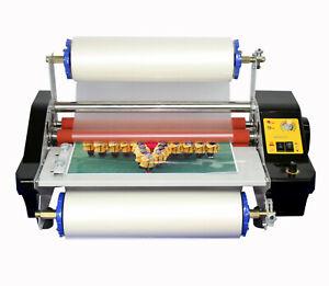 220V A2 Four Rollers Hot Roll Laminator Laminating Machine 44cm Adjust Speed