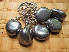 264-Porte clés pierre roulée d'hématite-Confiance-Stabilité-Lithothérapie