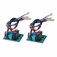 2pcs 60W 2 Way Speaker Crossover Board Bass Tweeter Frequency Divider