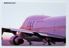 JAL Japan Airlines Boeing 747 Postcard (Airline Issue)