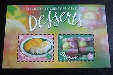Singapore -Thailand Joint Stamp Issue Desserts Miniature Sheet Sept 2015 MNH