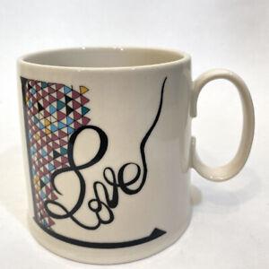 Anthropologie Florence Balducci Mug Cursive LOVE