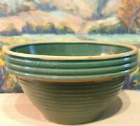 Antique Stoneware Mixing Bowl  - McCoy Green Beehive #10 Yellow Ware