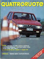QUATTRORUOTE LUGLIO 1985 ALFA 75 FIAT UNO RENAULT 5 PEUGEOT 205 HYUNDAI STELL