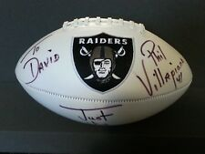 Autographed Raiders Football signed by Phil Villapiano