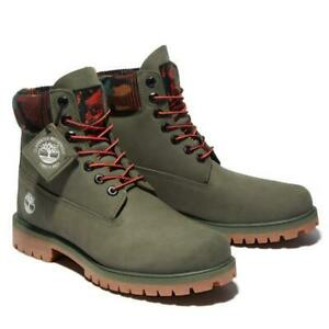 """Timberland Classic 6"""" Premium Army Green Leather Waterproof Winter Boot for Men"""