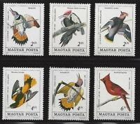 HUNGARY-1985. Birds / Audubon Burth centenary Cpl.Set MNH!!! Mi:3760-3765.