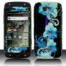 Blue Flower Hard Case Phone Cover T-Mobile Sidekick 4G