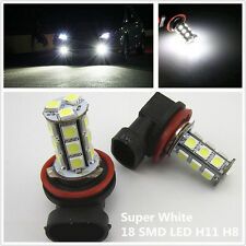 2x Off Road Xenon White H8 H11 18-5050 SMD LED Fog Light Driving HeadLight Bulbs