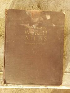 Vintage Rand McNally World Atlas PREMIER EDITION - 1927 Estate Find