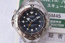 Serviced Seiko ScubaMaster Pipin Dive Watch SBCW017 Titanium 5m45-6A70 GMT 1998