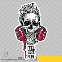 Skull Barber Beard Audio Make Some Vinyl Sticker Decal Window Car Van Bike 2604