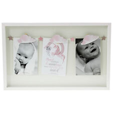 White Wooden Unicorn Inspired Triple Peg Wall Hanging Pictures Image Photo Frame
