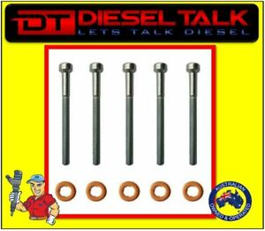 MERCEDES COMMON RAIL DIESEL INJECTOR BOLT KIT. WASHER & BOLT X 5
