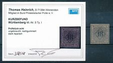 322750) Württemberg Nr.5I(*) FFB Heinrich BPP (2018)