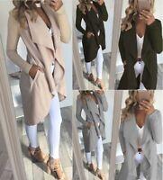 Lady Winter Warm Collar Hooded Long Coat Jacket Denim Trench Parka Outwear diy