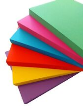 A4 Colour Card Pack - Red Green Purple Blue Yellow Pink - 180g - Pack 24