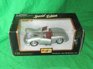Maisto 1948 Porsche No.1 Typ 356 Roadster 1/24th scale diecast VGC boxed