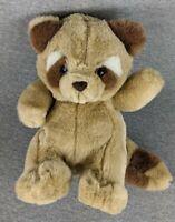 "Kids Of America Tan Raccoon 9""  Plush Stuffed Animal Toy Very Clean Pre Owned"
