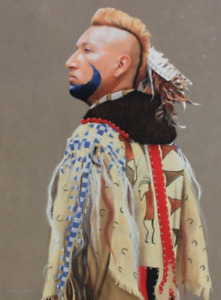 JD Challenger Son of Eagle Feather A Pawnee Legend Original 48x36 Oil Painting