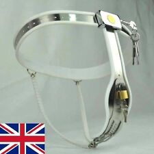 Female Adjustable Curve-T Stainless Steel Chastity Belt white, Sports 2 65-90cms