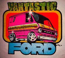 VTG Ford Van 70s vanning E150 Vantastic DS Custom Econoline VANS T-shirt iron-on