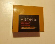 "SHURE V-15 TYPE III / V15 Type 3 SUPER TRACK ""PLUS"" Cartridge in original box"