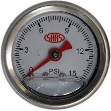 1 -1/2 SAAS Fuel Pressure Gauge 0 - 15PSI 1/8 NPT Suit Carby Holley  (WHITE)