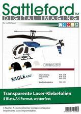 5 Klebefolien DIN A4 Laserdrucker transparent Aufkleber Etiketten wetterfest