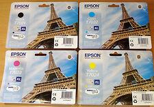 full set GENUINE EPSON ink cartridges ORIGINAL T7021 T7022 T7023 T7024 EIFFEL