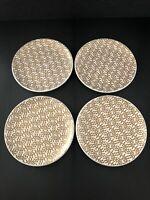 "Signature Housewares Room Creative Antwerp Gold 6"" Dessert Plates Set of 4"