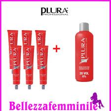 Tinta crema colore capelli professionale kit 6 tubi + ossigeno PLURA 9928306dc3d1