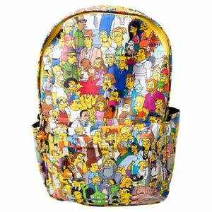 The Simpsons - Extended Cast All-Over Print Backpack - Clothing - BRAND NEW