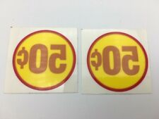 Original Northwestern 50 Cent 50 Price Decal Sticker Gumball Vending Machine