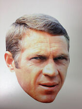 Steve McQueen Single 2D Card Fun Face Mask - Great for Hollywood Themed Parties