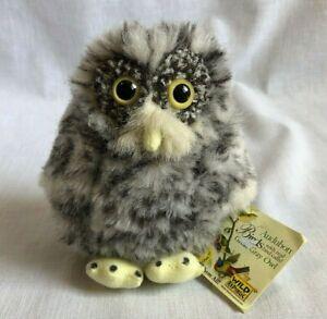 Wild Republic Audubon Great Gray Owl Plush Stuffed Toy Birds of Prey It Hoots