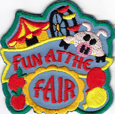 """""""FUN AT THE FAIR"""" IRON ON EMBROIDERED PATCH /Event, Entertainment, Fun, Show"""