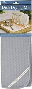 Envision Home Microfiber Dish Drying Mat, 16 by 18-Inch, Gray