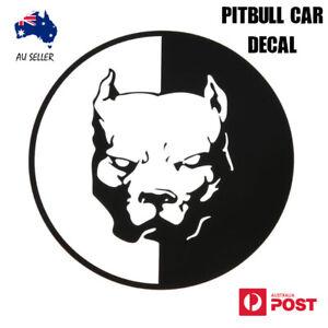 Pitbull Car Sticker Decal Dog Black