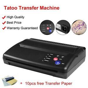 Tattoo Thermal Stencil Maker Tattoo Transfer Copier Printer Machine & Copy Paper