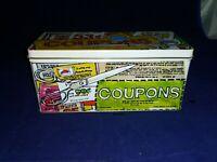 Vintage Enesco Giftware Coupon Tin Scissors