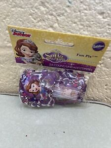 Wilton Disney SOFIA the First Fun Pix Picks Pack Of 24 NEW Cupcakes Baking Decor