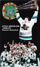 1996-97 Utah Grizzlies Hockey Pocket Schedule