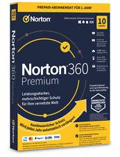 Norton 360 Premium 10 User 1 Jahr PC/Mac/Android 2021 2022 Internet Security ESD