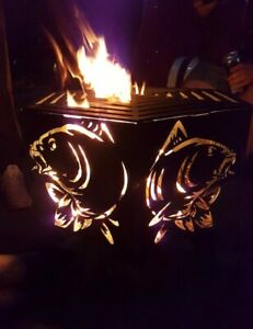 Carp fish hexagonal fire pit..