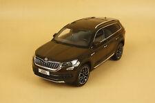 1/18 China Volkswagen Skoda KODIAQ suv diecast model dark brown color